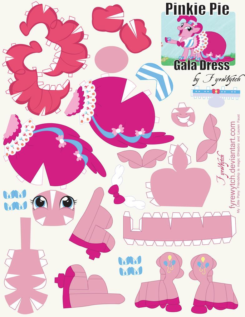 Pinkie Pie Gala Dress Printout by FyreWytch on DeviantArt