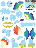 Rainbow Dash Gala Printout by FyreWytch