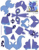Princess Luna Printout by FyreWytch