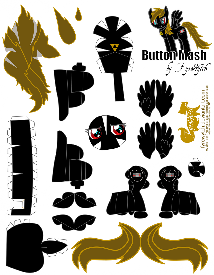 Button mash oc papercraft by fyrewytch on deviantart for Paper mashing art