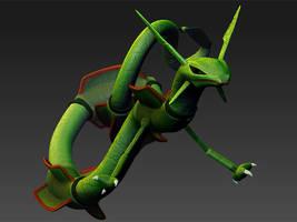 Pokemon 394 Rayquaza 3D Model by WilbertPierce
