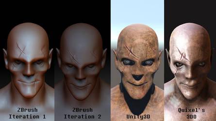 Zombie Vampire Comparison by erickn