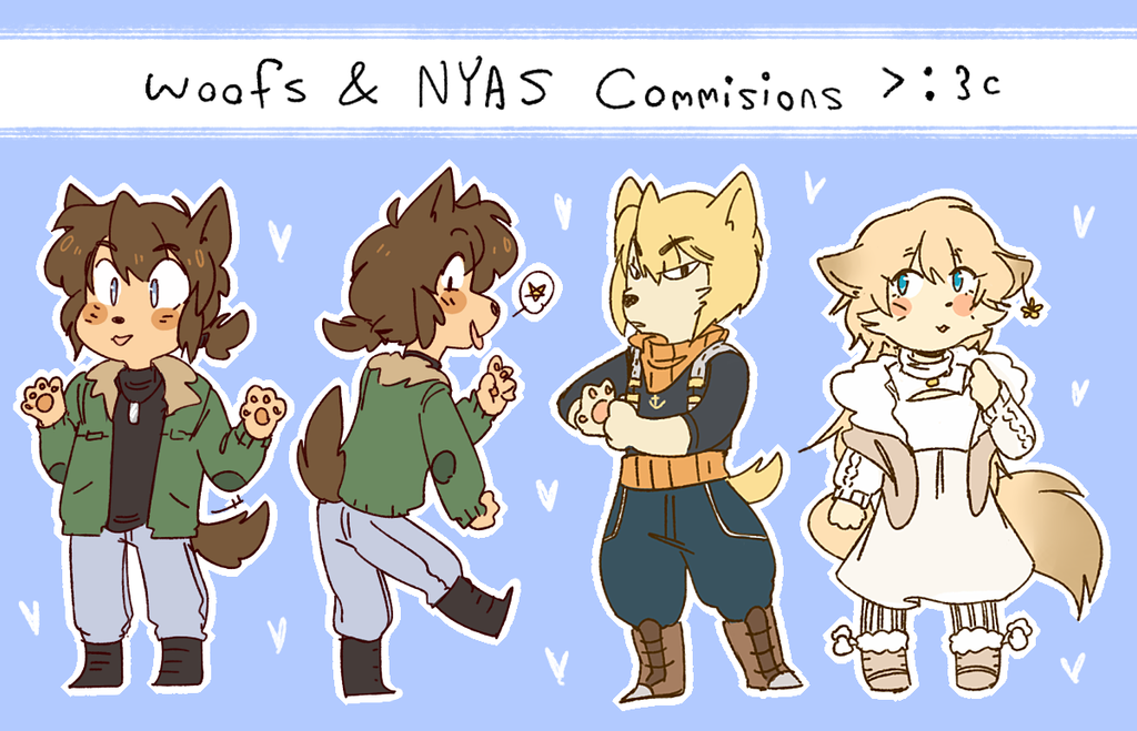 woofs and nyas by Whoodles