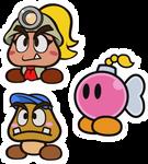 Paper Mario Color Splash: Party Members set 1