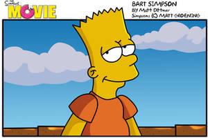 Bart:Simpsons Movie by kintobor