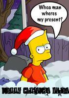 Bart's Christmas by kintobor