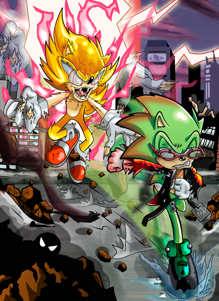 Archie Vs Fleetway: Scourge and Super Sonic by kintobor on ...