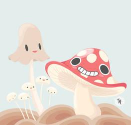 Happy Fungi by designslave