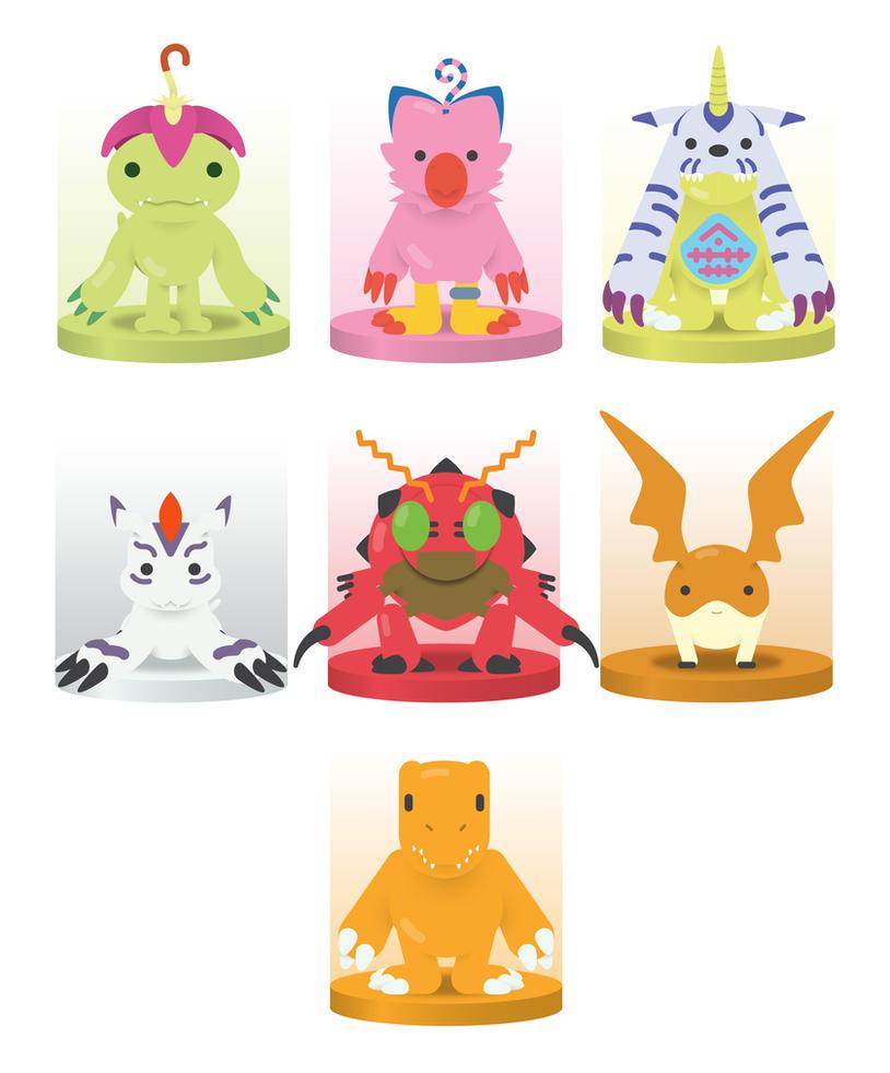 Digimon Flat Characters by saulphdz