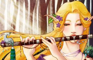 Elven Flute by TirraMisu