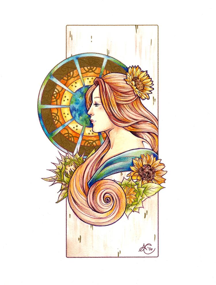 Sunflower Nouveau by TirraMisu