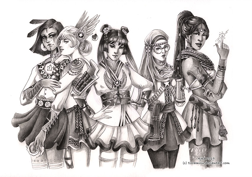 WIP Sailor Scouts by TirraMisu