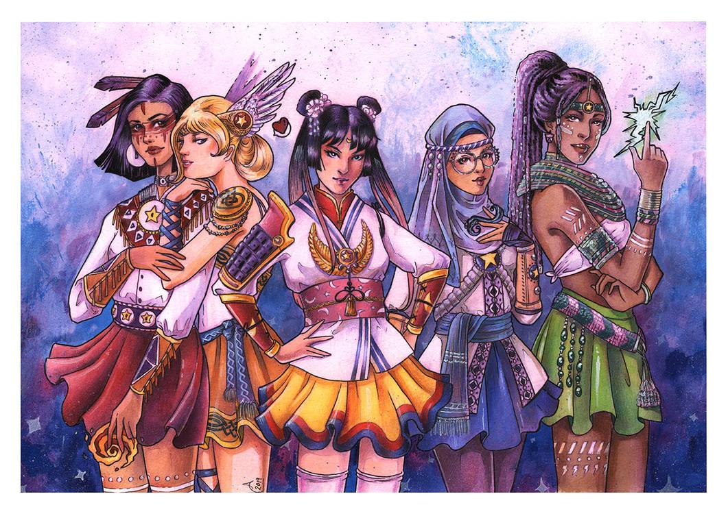 Sailor Scouts by TirraMisu