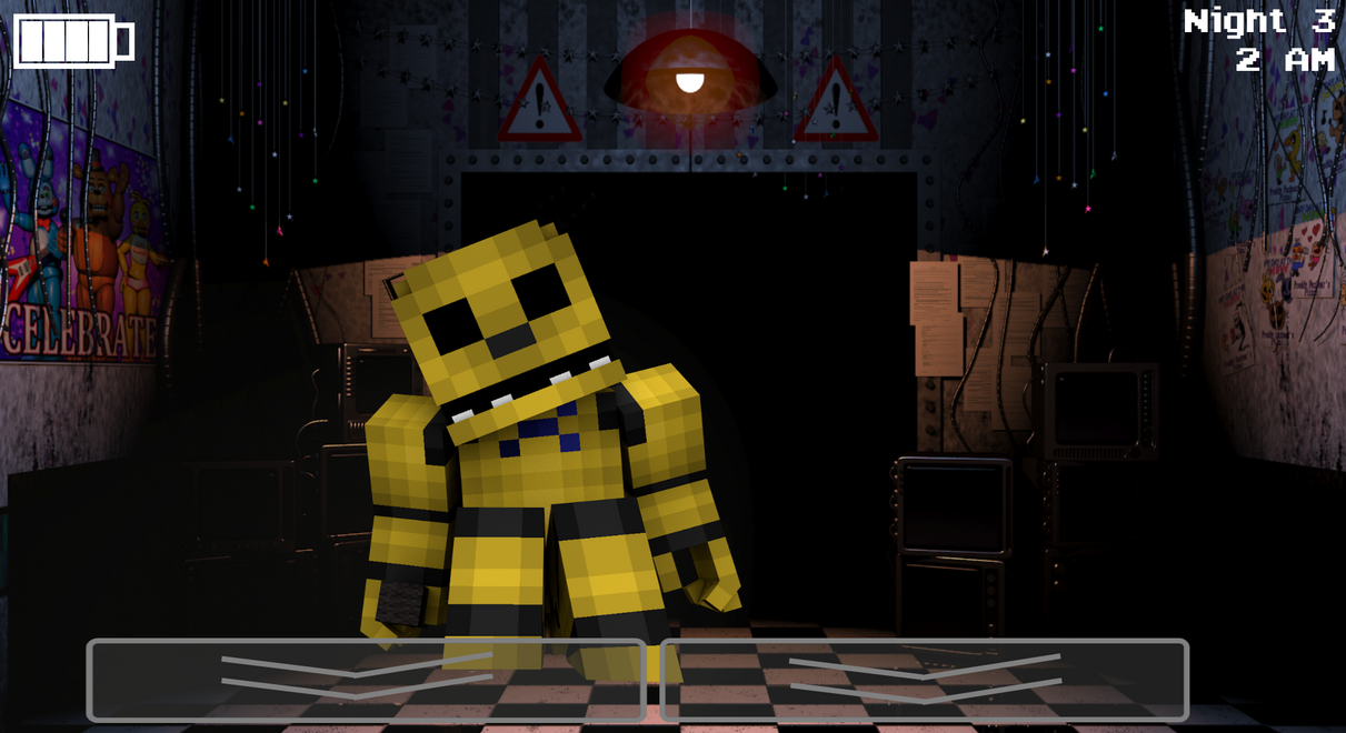 Minecraft Golden Freddy Wallpaper By GalaxyPlays