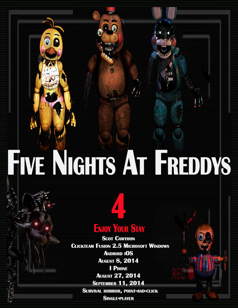 five nights at freddys 4 movie poster by gizzirad