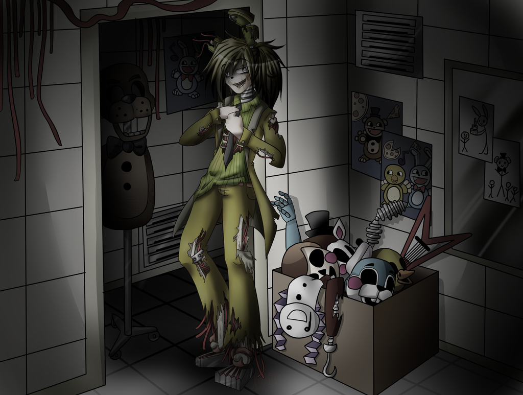 Springtrap - FNAF 3 + Speedpaint by Any1995