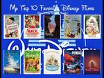 Top 10 Disney movies meme