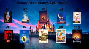 Disney Renaissance Age Ranked