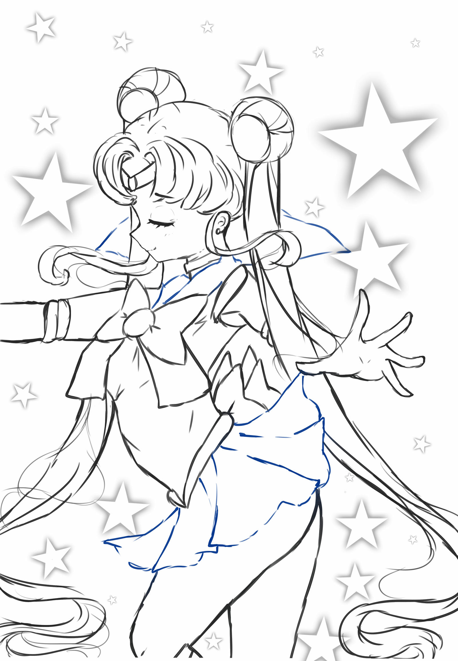 lineart for coloring on sailor-moon-club