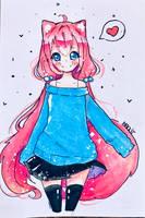 Hyanna-natsu gif by Hiroki-Ajame