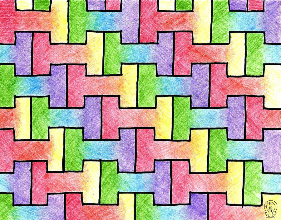 colorful tessellation by anscathmarcach