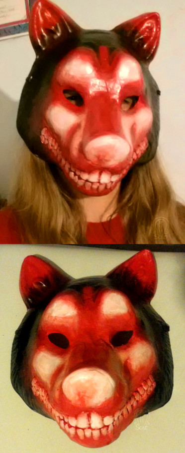 Smile Dog Mask by AnScathMarcach