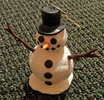 Snowman Ornament Attempt 2 (2015) by AnScathMarcach