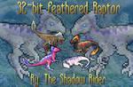 32-BIT Furcadia Feathered Raptor Avatar