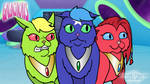 Galacticats - Scaredy Cats by AnScathMarcach