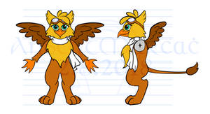 Gusty the Gryphon - Model Reference Sheet by AnScathMarcach