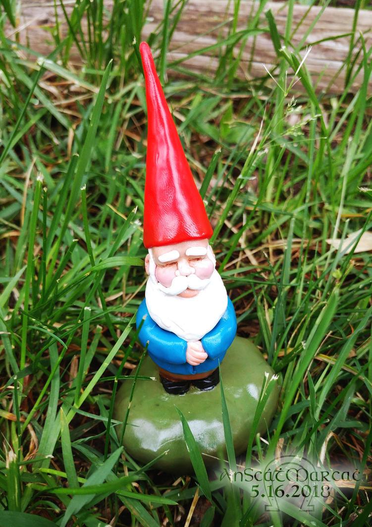 Sculpey Garden Gnome by AnScathMarcach