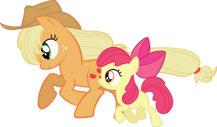 Applejack and Apple Blossom