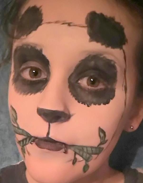 Panda Face Paint By Faelangreywolf On Deviantart
