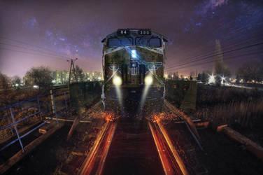Train Photomanipulation - My town