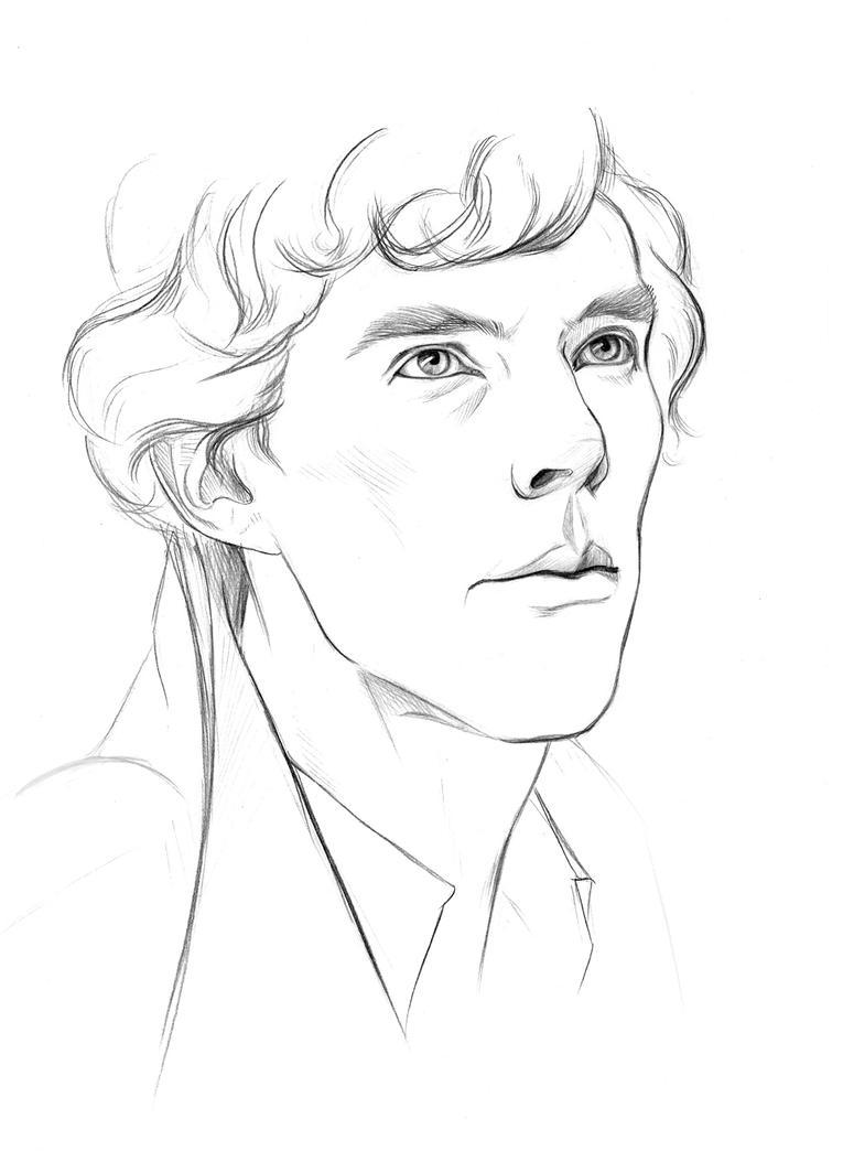 sherlock by sirickss fan art traditional art drawings movies tvBbc Sherlock Drawing