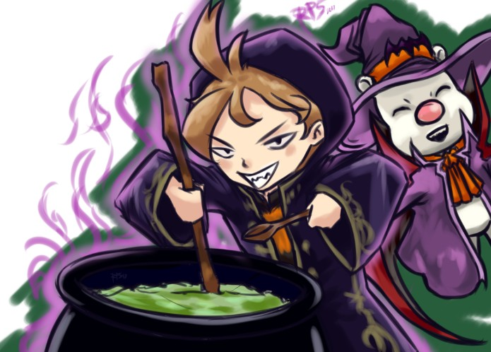FFRK - Witch Tyro Dr.Mog by pirARTeking