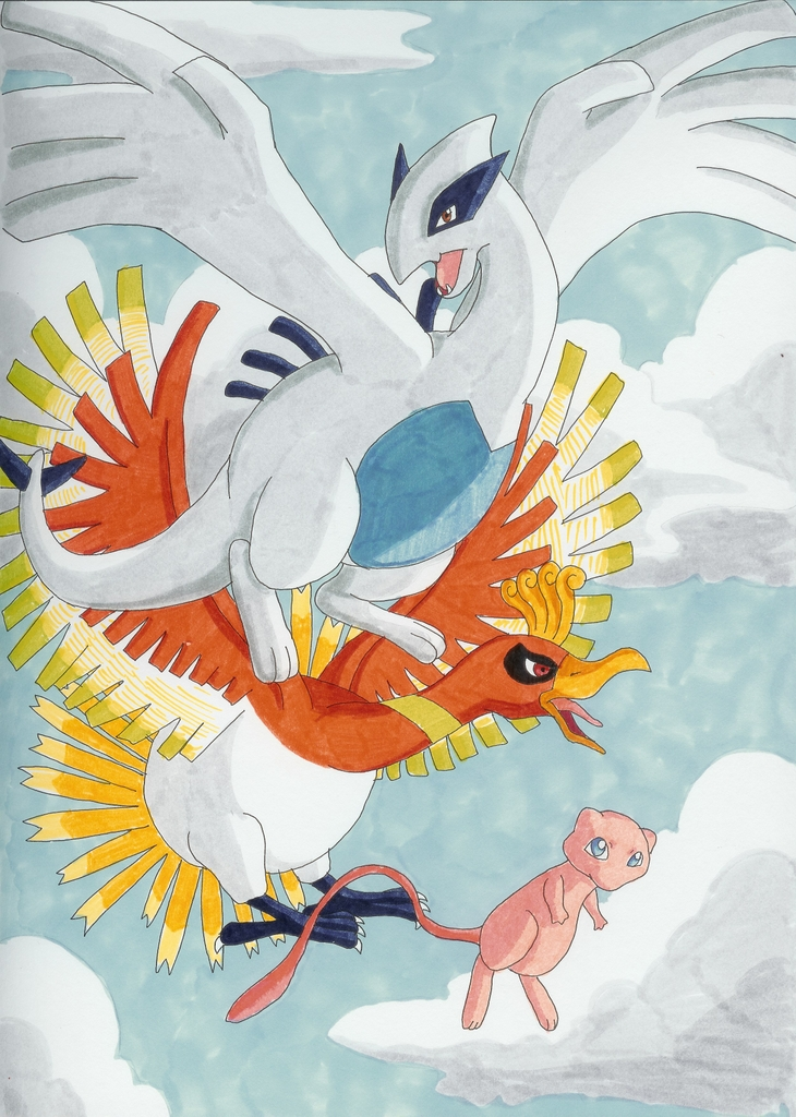 Pokemon Wallpaper Ho Oh Lugia, Ho-Oh, and Mew ...