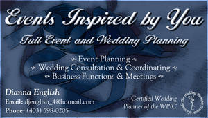 Events Inspired by You BCard