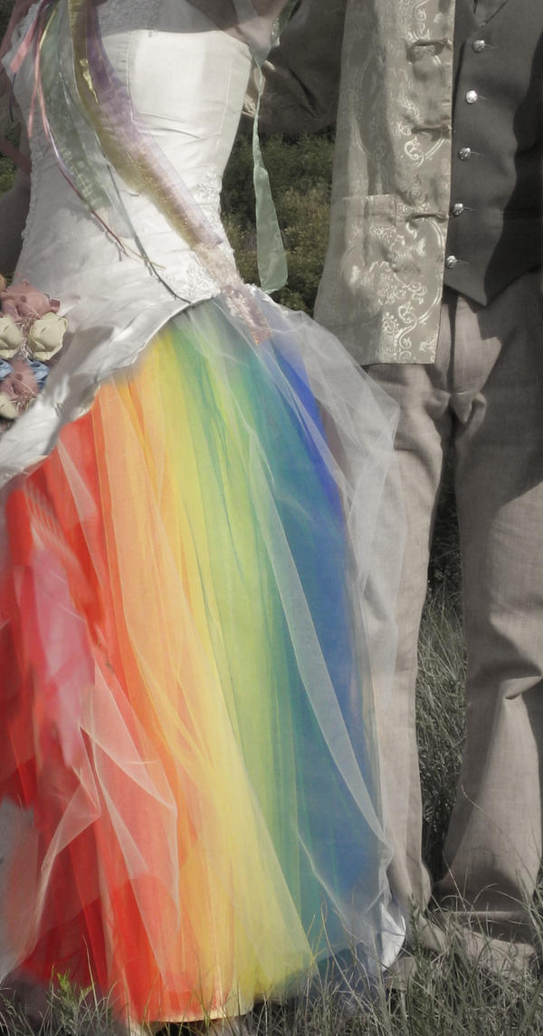 My Rainbow Wedding Dress by littlehippy
