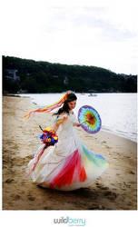 My Rainbow Wedding Dress 2nd by littlehippy
