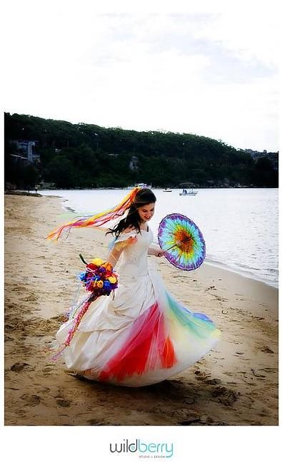 My Rainbow Wedding Dress 2nd by littlehippy - Gelinlikli Avatarlar