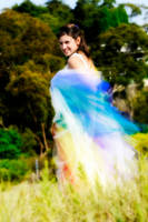 Rainbow Wedding Dress by littlehippy