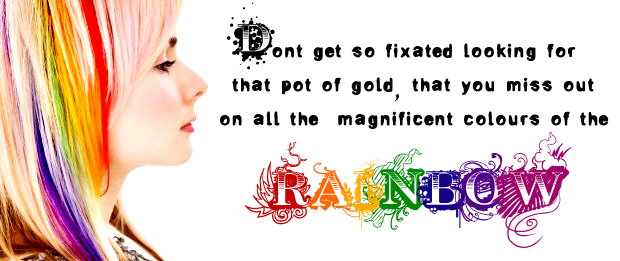 Rainbow Hair Colour by littlehippy