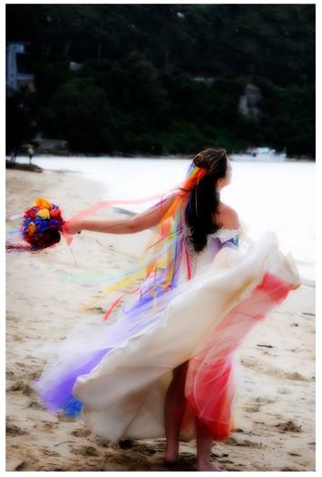 Rainbow Wedding by littlehippy