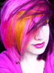 Pink, Yellow and Purple Hair