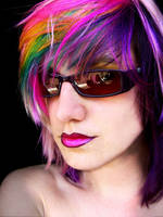 Rainbow hair colours by littlehippy