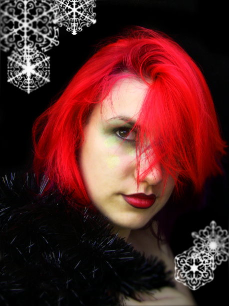 Red hair for Christmas by littlehippy