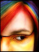 Rainbow hair color by littlehippy