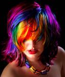 Anya Goy's Rainbow Hair