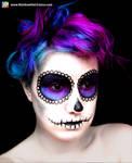 Sugar Skull Hair and Makeup
